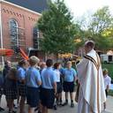 Father Buehler enlightens 6th graders!